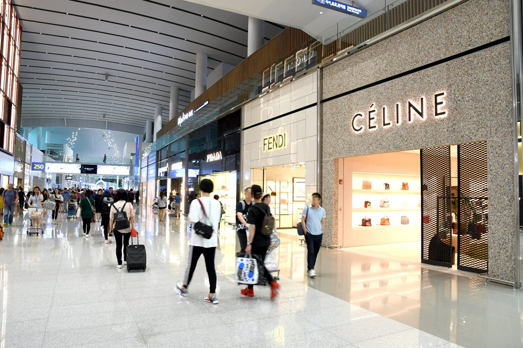 Luxury brands stores at Incheon Airport
