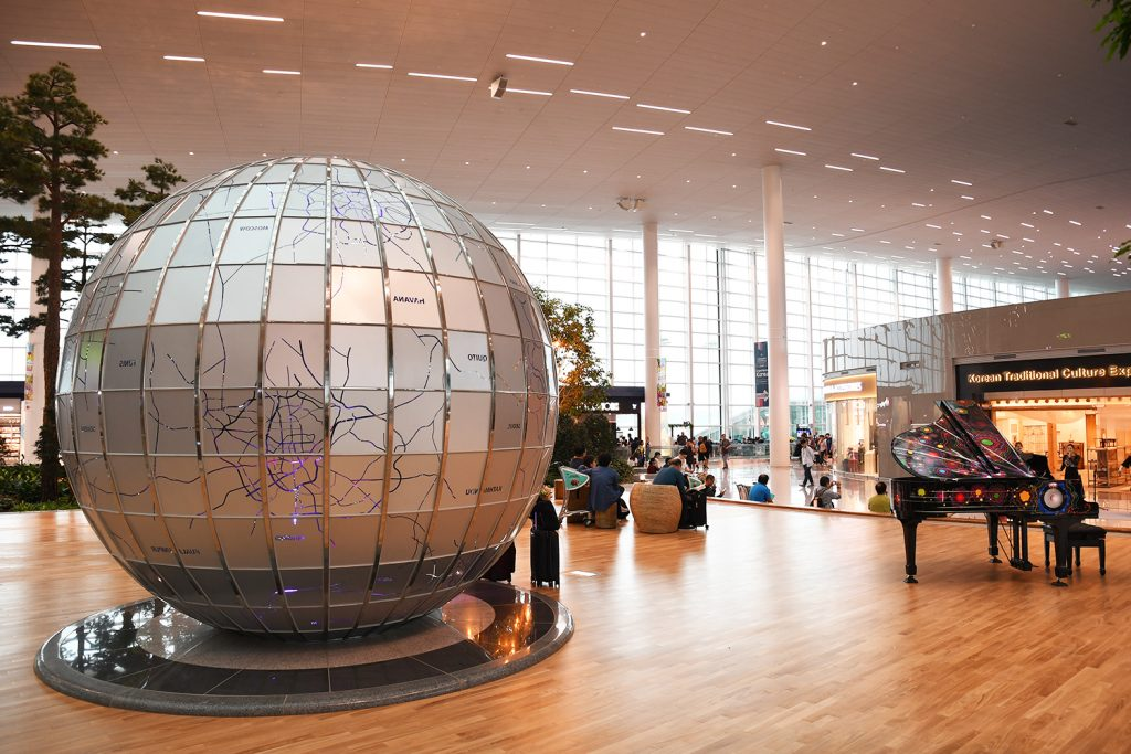Globe at Incheon Airport New Termnial