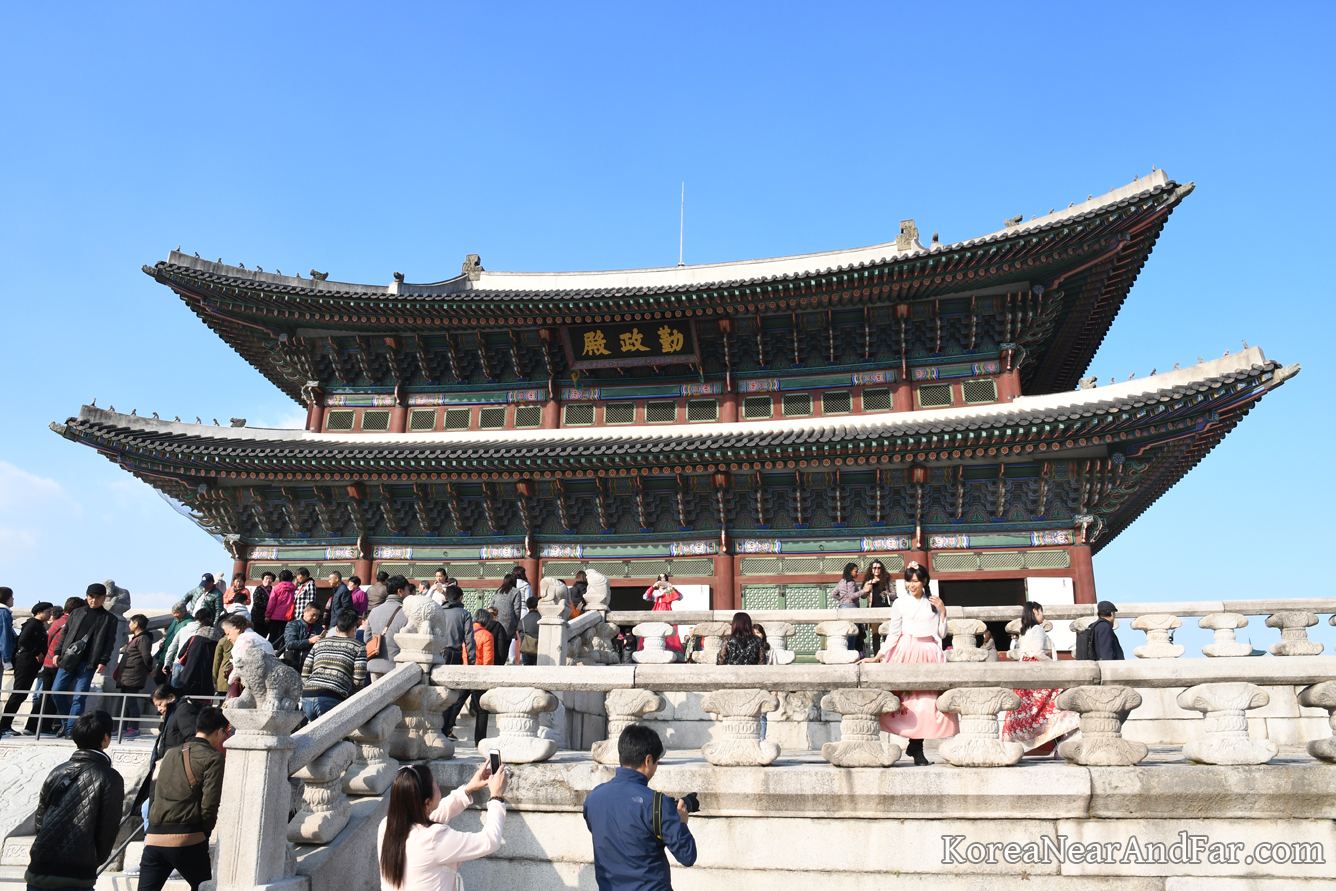 Geunjeongjeon at Gyeongbokgung Seoul South Korea