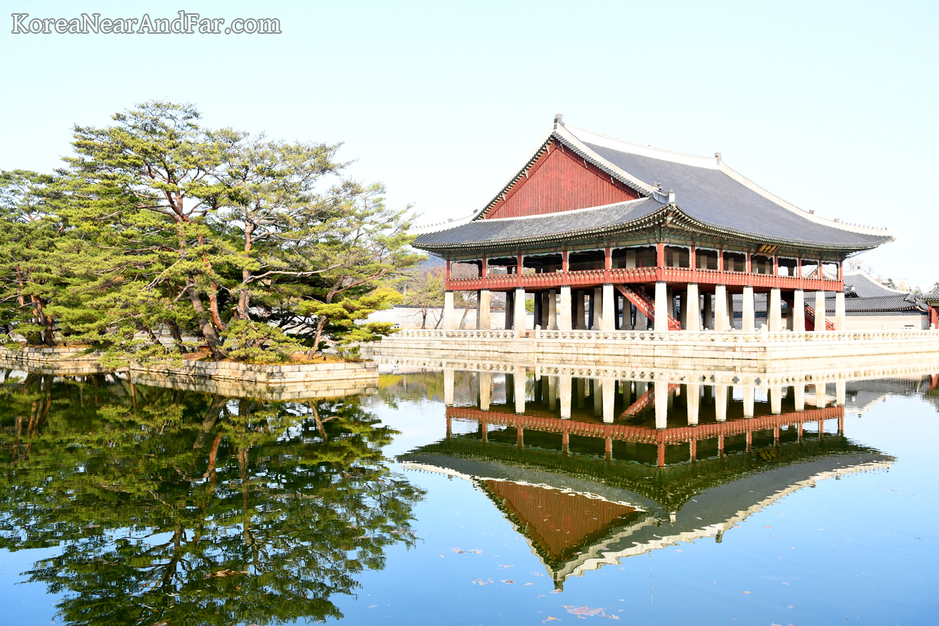 Gyeonghoeru Pavilion at Gyeongbokgung Palace Seoul South Korea