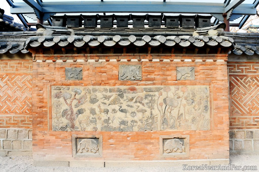 Sib Jang Saeng Chimney at Jagyeongjeon backyard Gyeongbokgung Seoul South Korea