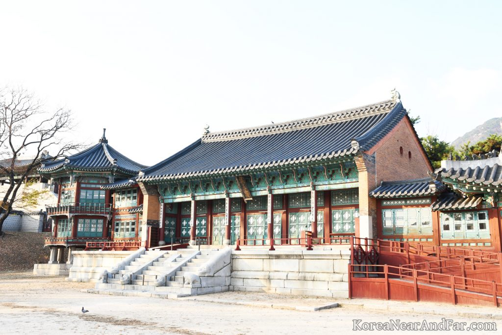Jibokjae and Palwujeong at Gyeongbokgung Seoul South Korea