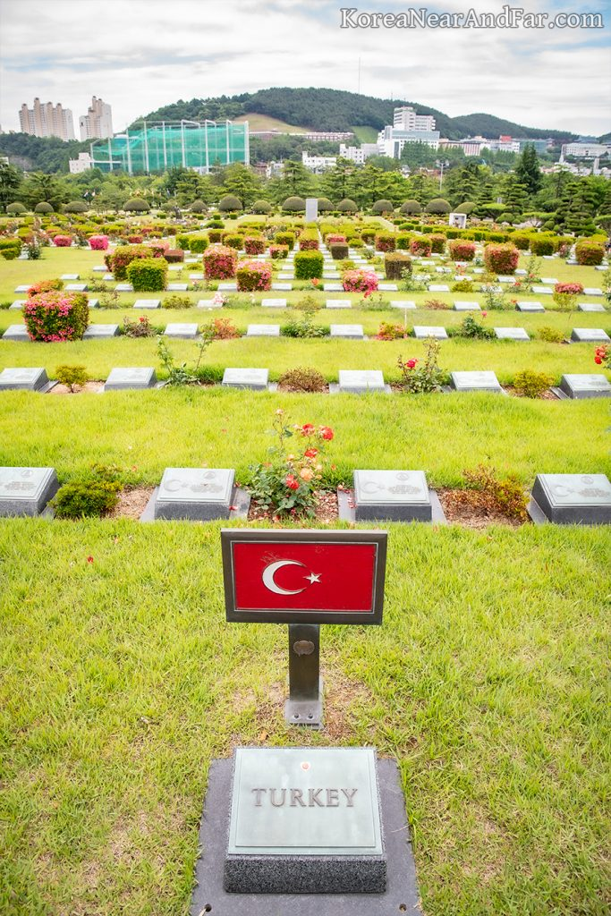 Turkish section in United Nations Memorial Cemetery
